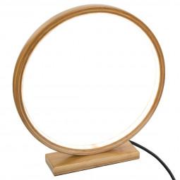 Lampe ronde en Bambou Cercle lumineux à LED D 32 cm