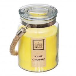 Bougie parfumée citronnelle pot en verre 500g