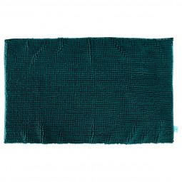 Tapis de salle de bain mini chenille vert émeraude