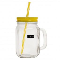 Chope avec paille pour limonade