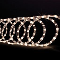 Guirlande d'extérieur Tube lumineux LED Blanc chaud sur 10 Mètres avec 8 jeux de lumière