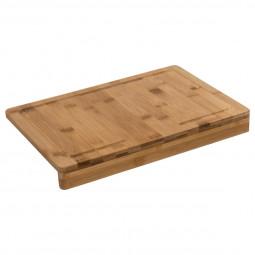 Planche à découper en bambou avec rebord 35 x 24 cm