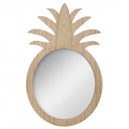 Miroir Ananas Aloha bois Hauteur 40 cm