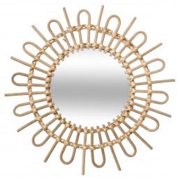 Miroir en rotin soleil diamètre 50 cm