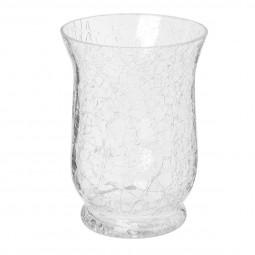 Photophore verre craquelé évasé H15