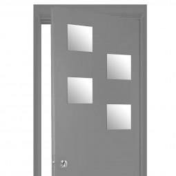 Lot de 4 miroirs carrés adhésifs 20x20