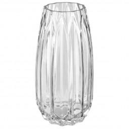 Vase verre origami H25.5