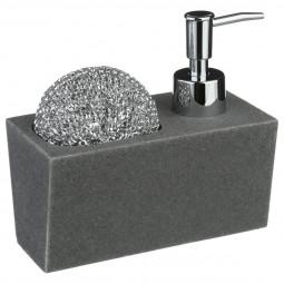 Distributeur de savon avec éponge