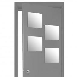 Lot de 4 miroirs carrés adhésifs 30X30