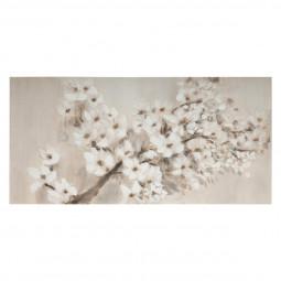 Toile peinte Cerisier en fleur  58 x 118 cm