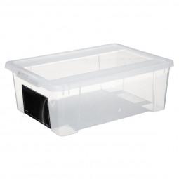Boîte de rangement avec couvercle + ardoise 5L