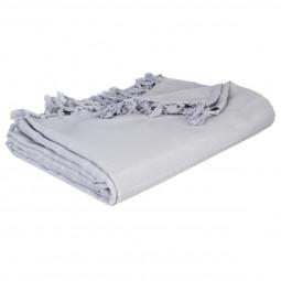 Jeté de lit gris clair 160x220 cm