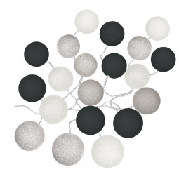 Guirlande LED à piles 20 boules D6