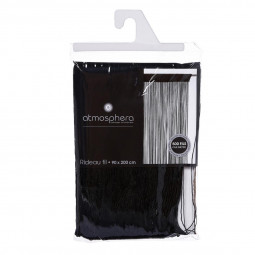 Rideau de fil noir 90 x 200 cm
