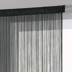 Rideau de fil noir 90X200