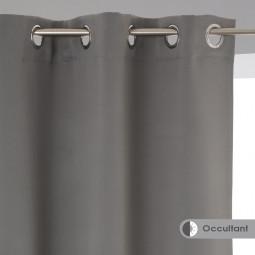 Lot de 2 rideaux occultants gris 135X240