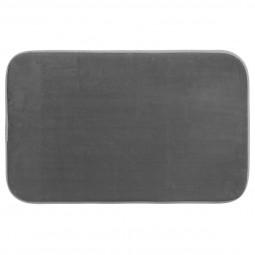 Tapis de bain mémoire de forme gris  80X50