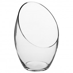 Vase bombé transparent H32.5