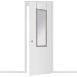 Miroir de porte cadre en fibre de bois 35X109