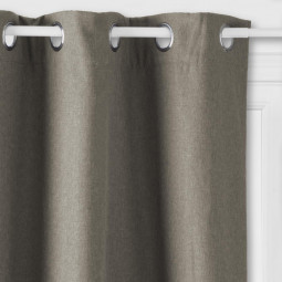 "Rideau isolant taupe ""Tim"" 140X260"