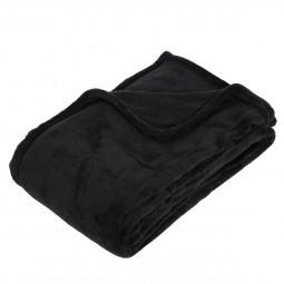 Plaid microfibre noir 125X150