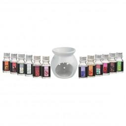 Brûle parfum + huile 10ML X12