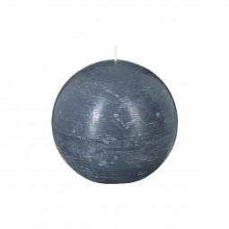 Bougie boule rustique grise D10