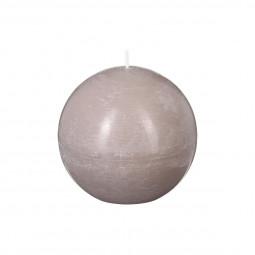 Bougie boule rustique taupe D10