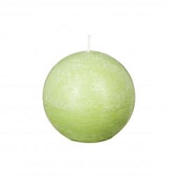 Bougie boule rustique verte D10