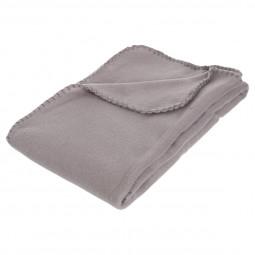 Plaid polaire gris 125x150 cm