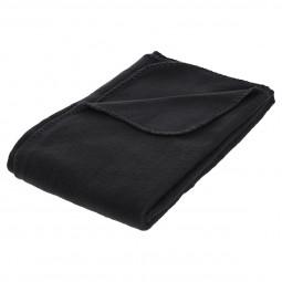 Plaid polaire noir 125x150
