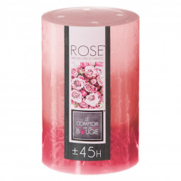 Bougie tricolore parfumée rose H10