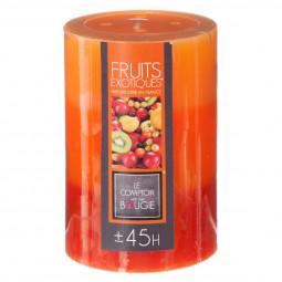 Bougie tricolore parfumée fruits exotiques H10