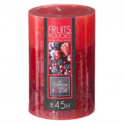 Bougie tricolore parfumée fruits rouges H10