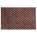 Tapis effet bois chocolat 50X80