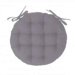 Galette de chaise ronde grise D40