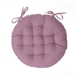Galette de chaise ronde rose D40