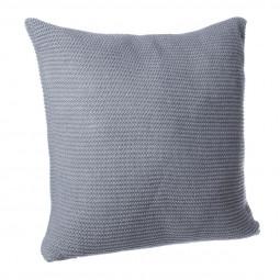 Coussin tricot gris foncé 40X40