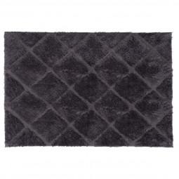 Tapis doux losange gris 120x170