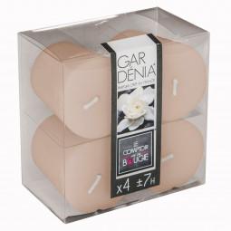 Lot de 4 bougies parfumées gardenia 48G