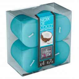 Lot de 4 bougies parfumées coco 48G