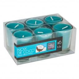 Lot de 6 bougies parfumées coco 22G