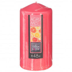 Bougie ronde parfumée agrumes H.14