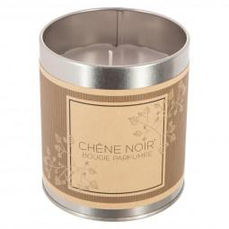 Bougie en pot parfumée chêne noir 330G