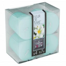 Lot de 4 bougies parfumées fleur de tiaré 48G