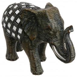 Éléphant miroir  H 13 cm