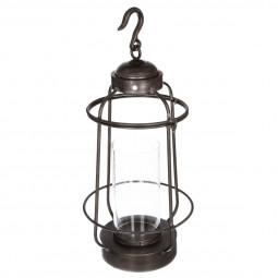 Lanterne métal + verre H62.5