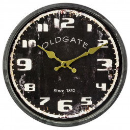 Pendule métal noir D30