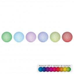 Boule LED effet CRISTAL  D 7.5 cm