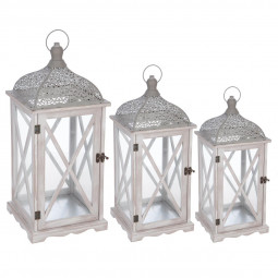 Lot de 3 lanternes cut folkdream